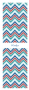 Shopping list zigzag - blue