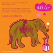 Birthday elephant - orange