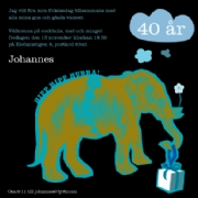 Birthday elephant - blue