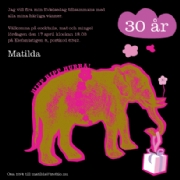 Birthday elephant - pink
