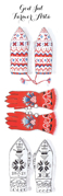 Shopping list nordic mittens - blue