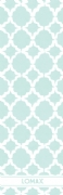 Shopping list quatrefoil - aqua