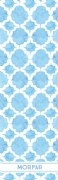 Shopping list quatrefoil - blue