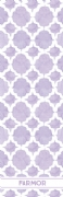 Shopping list quatrefoil - purple
