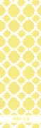 Shopping list quatrefoil - yellow