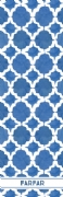 Shopping list quatrefoil - cobolt