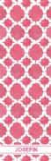 Shopping list quatrefoil - fuchsia