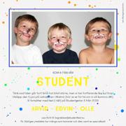 inbjudningskort student mall word